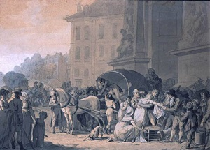 """accident next to the door """"saint denis"""" by louis léopold boilly"""
