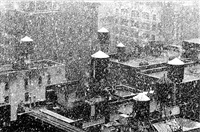 chelsea rooftops in the snow, ca. 1980s by andreas feininger