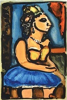 madame louison by georges rouault