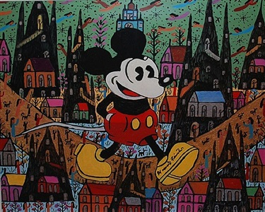 mickey mouse by howard finster