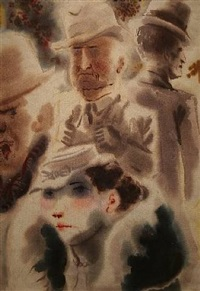 new york faces by george grosz