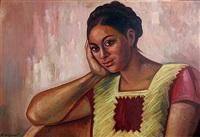 muchacha de juchitan by raúl anguiano