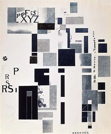 plate 5 from the /merz mappe 3/. by kurt schwitters