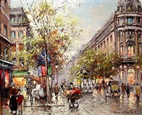 parisian flower vendor by antoine blanchard