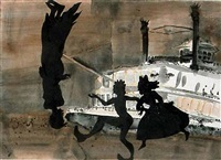 american primatives, they say water represents the subconscious in dreams by kara walker