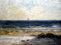 le bords de la mer à palaves <i>-sold</i> by gustave courbet
