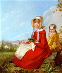 the blackberry girls by william sidney mount