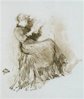 study: maud franklin, seated by james abbott mcneill whistler