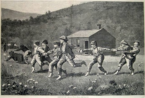snap-the-whip by winslow homer