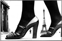 shoe and eiffel tower by frank horvat