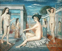 les courtisanes by paul delvaux