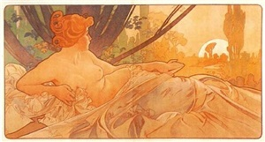 dawn by alphonse mucha