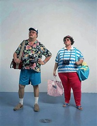 tourists ii by duane hanson