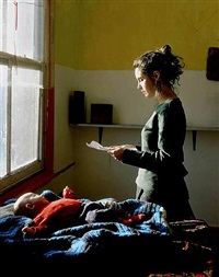 woman reading possession order by tom hunter