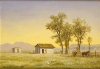 nebraska homestead by albert bierstadt