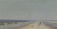 fire island beach by sanford robinson gifford