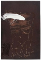 figura sobre marró by antoni tàpies
