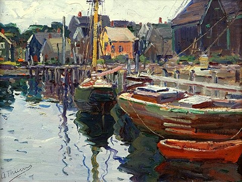 harbor reflections by anthony thieme