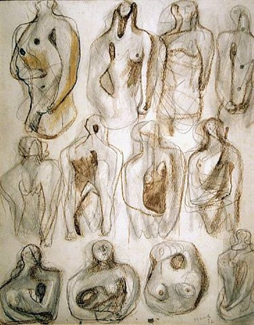 drawings for sculpture by henry moore