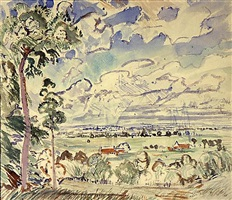 landscape, delaware county, pa by john marin