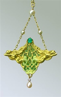 superb art nouveau mermaid pendant by joseph jules emmanuel cormier (joe descomps)