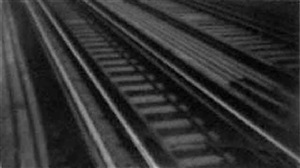 untitled (railroad track detail, new york) by walker evans