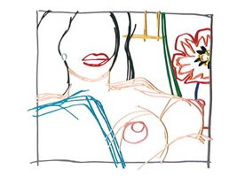 from nude painting print by tom wesselmann