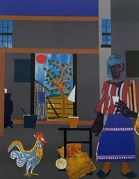 morning of the rooster by romare bearden