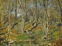 forest landscape by louis paul dessar