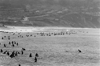 torrance beach (palos verdes cove in background) by leroy grannis
