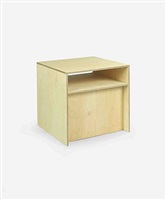 stool #3 with shelf by donald judd