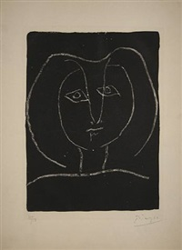 tete de femme stylisee by pablo picasso