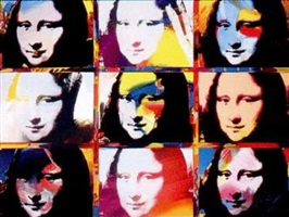 9 mona lisa portraits by peter max