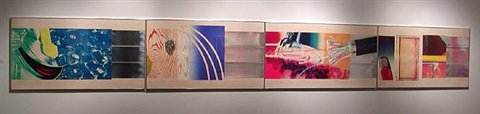 horse blinders (west, north, east & south) by james rosenquist