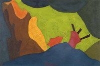 study for cow at play by arthur dove