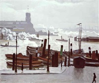 port de hambourg by albert marquet