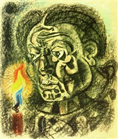 autoportrait à la bougie by andré masson