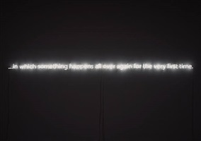 in which something happens... by cerith wyn evans
