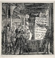 tattoo-shave-haircut by reginald marsh