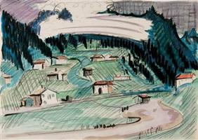 davoser-landschaft by ernst ludwig kirchner