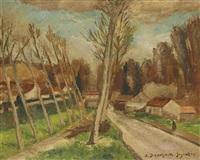 crecy-la-chapelle, la route de voulangis by andré dunoyer de segonzac