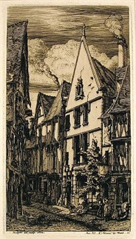 le rue des toiles a bourges by charles meryon