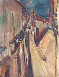 street scene, ronda by david bomberg
