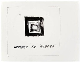 homage to 'albers' by william wegman