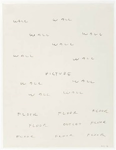 (wall picture floor) by william wegman