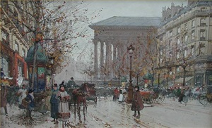 la madeleine, paris by eugène galien-laloue