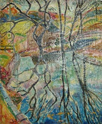 marlboro landscape (reflection) by alfred henry maurer