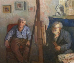joseph stella painting walkowitz by moses soyer