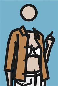 ruth with cigarette 1 by julian opie
