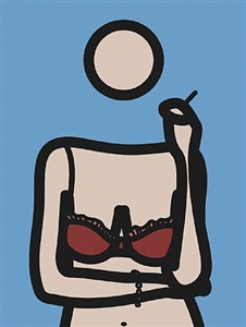 ruth with cigarette 4 by julian opie